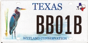 TX Blue Heron special plate